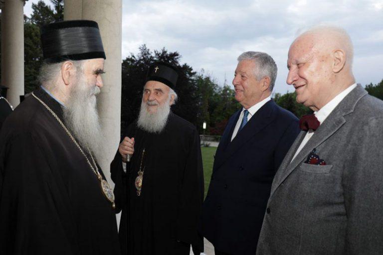 Prince Alexander with Patriarch Irinej