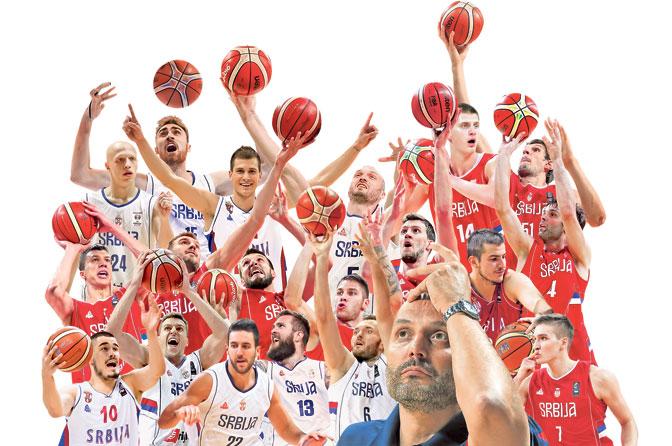 Aleksandar Djordjevic with his players